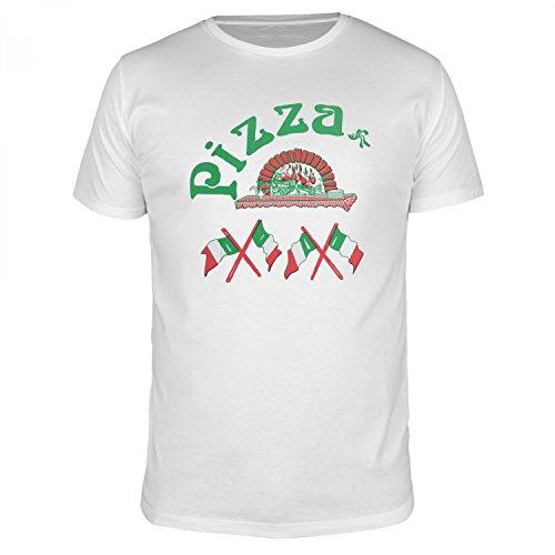 FABTEE - Pizza Italia Pizzaschachtel - Herren T-Shirt Größen bis 4XL, Größe:M, Farbe:Weiß