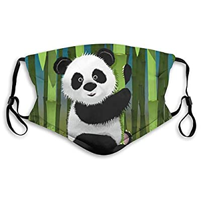 HOTBABYS Playful Pandas Reusable Activated Carbon Filter Face Covering with Replaceable Filter for Men Women Medium