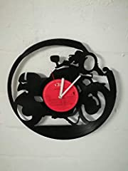 WALL CLOCK VINYL MUFFLER WITH MOTORCYCLE MOTO UPCYCLING DESIGN WATCH WALL DECOR VINTAGE WATCH WALL DECORATION RETRO WATCH MADE IN GERMANY - CAFE RACER #4
