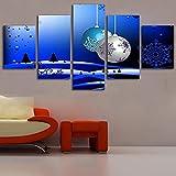 QQWER Abstracta Decoracion De Parednavidad Brillante Brillante5 Piezas Modernos Mural Fotos para Salon,Dormitorio,Baño,Comedor HD Impreso Canvas Art