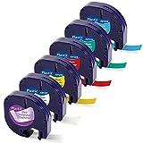 MarkField 12mm x 4m Ruban pour Étiqueteuse Compatible pour Dymo LetraTag Ruban Plastique Cassette für Dymo Letra Tag LT-100H LT-100T XR XM QX50 ( Compatible pour Dymo LetraTag Plastic Label Tape)