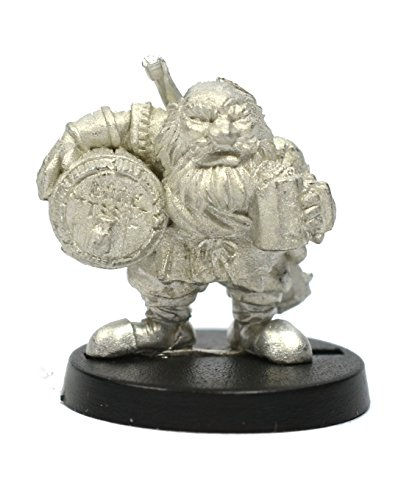 Stonehaven Dwarf Brewmaster Miniature Figure (for 28mm Scale Table Top War Games) - Made in USA