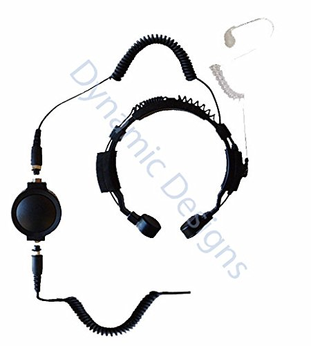 for Midland Radios GXT LXT Tactical Throat Microphone with Acoustic Tube Ear Piece by Code 3 Supply