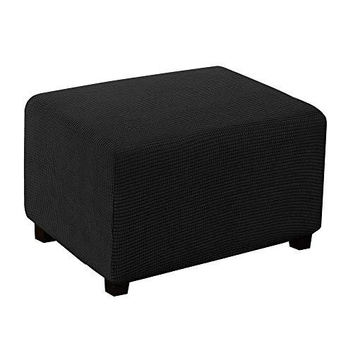 HJYSQX Funda elástica para muebles de almacenamiento plegable con parte inferior elástica, color negro_XL