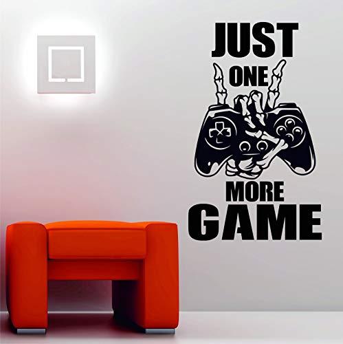 Skull Hands Skeleton Video Game Joystick Controller Gamepad Etiqueta de la pared Vinilo Calcomanía Niño Dormitorio Sala de juegos Sala de juegos Club Studio Decoración para el hogar Mural