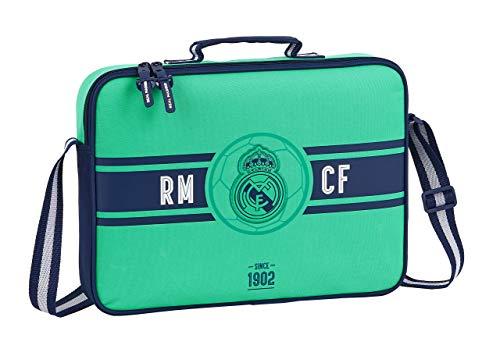 safta 612057385 Bolso Maletín Cartera extraescolares niño Real Madrid CF, Verde