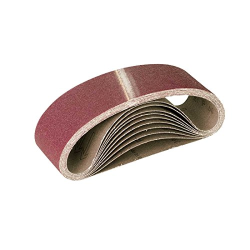 RETOL bandes abrasives, 533 x 75 mm, G36, p. ponceuses à bande portatives, corindon normal (Lot de 10)