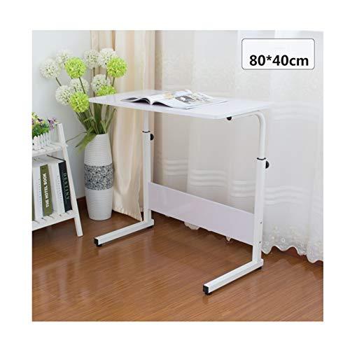 BIAOYU Mesa de escritorio para computadora de escritorio, mesa para el hogar, dormitorio, pequeño escritorio, simple cama perezosa, dormitorio o estudiante (color: 80 x 40 cm pintura blanca)