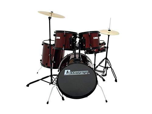 Dimavery DS-200 Schlagzeug-Set, weinrot | 5-teiliges Einsteigerset mit exzellenter Verarbeitung