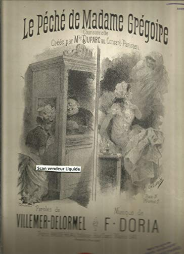 Le péché madame Grégoire : chansonnette