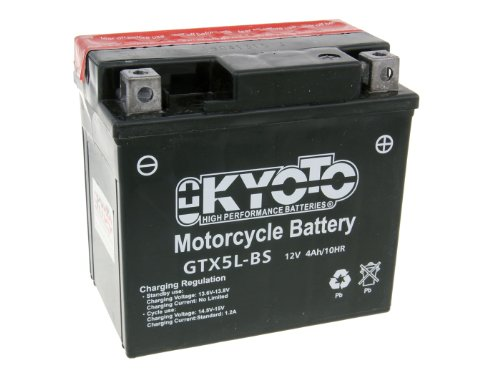 Batterij Kyoto 12V GTX5L-BS MF onderhoudsvrij Peugeot Trekker 100 Road (1998-2000)