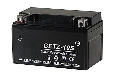 シールド式 GEL バイクバッテリー TZ10 GETZ-10S【YTZ10S FTZ10S互換】 CB400SF-SPECⅠ/Ⅱ/Ⅲ(NC39)/CBR1000RR/マグザム(SG17J/21J)/マジェスティ4D9(SG20J) TZ10