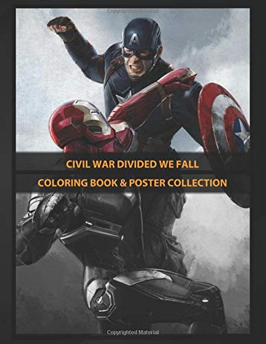 Coloring Book & Poster Collection: Civil War Divided We Fall Duel Comics