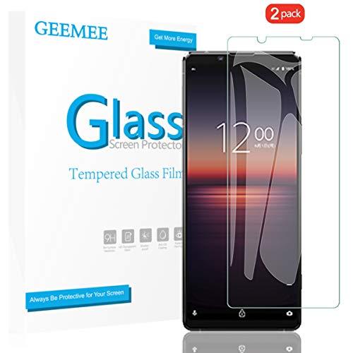 GEEMEE für Sony Xperia 1 II Panzerglas Schutzfolie, [2 Stück] 9H Festigkeit Anti Fingerprint Gehärtetem Schutzglas Hohe Empfindlichkeit Panzerglas Bildschirmschutzfolie (Transparent)