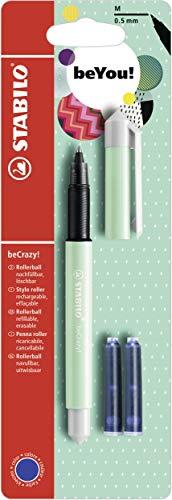 Tintenroller - STABILO beCrazy! Pastel in minze - Einzelstift- inklusive 3 Patronen