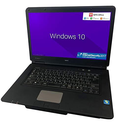 【Office機能搭載 ウィルス対策ソフト付 中古ノートパソコン 】【Windows 10】NEC VersaPro VK16 /Celeron 1.60GHz/メモリ 4GB/HDD 250GB/15.6インチ 大画面/無線LAN/DVD/中古ノートパソコン