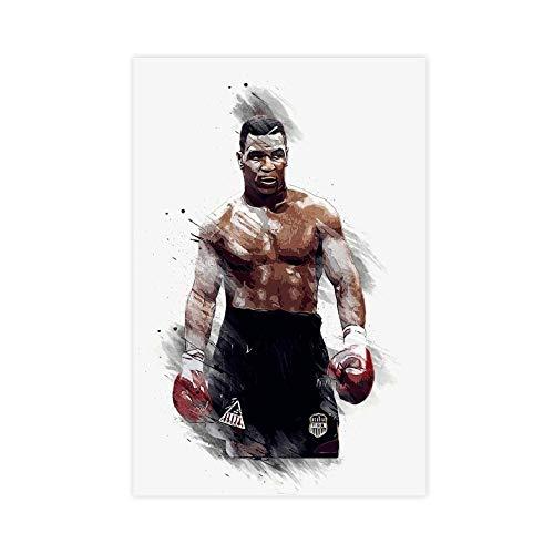 Póster de Mike Tyson de Boxeo Deporte 2 Lienzo Decoración de Dormitorio Impresión de Cuadro Decoración de Dormitorio Oficina Regalos 30 × 45 cm (12 × 18 pulgadas) Unframe-style1