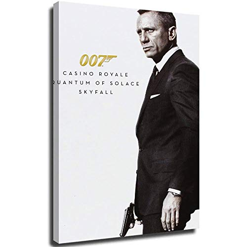MRFSY Póster de Daniel Craig James Bond 007, pintura al óleo, reproducción, sala de estar, dormitorio, comedor, cuadros decorativos para decoración del hogar, 50,8 x 76,2 cm