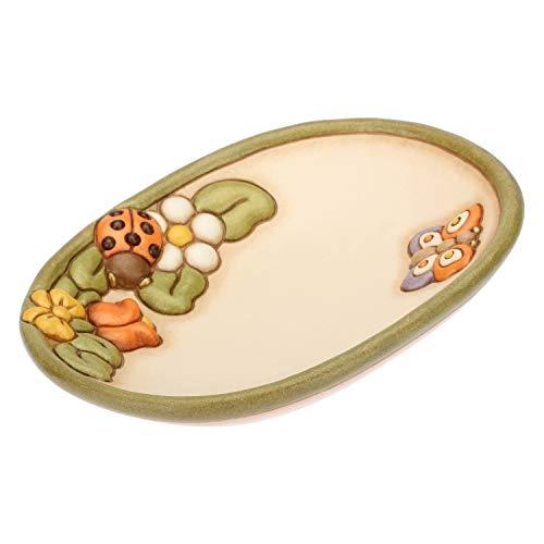 THUN® - Svuotatasche Portaoggetti da Ingresso con Coccinella Portafortuna - Ceramica - Linea Country