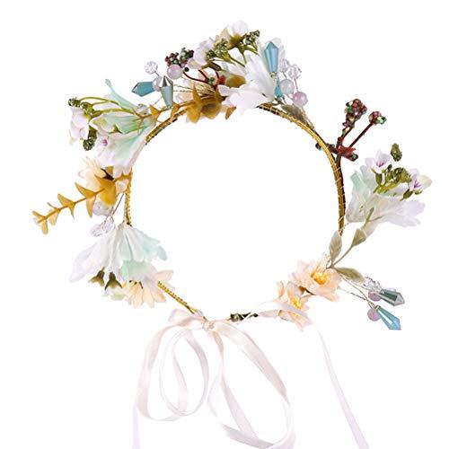 Lurose Kunstbloem, kroon, bruid, bloemen, hoofdband voor bruiloft, garland hoofd, krans, bruiloftsjurk, hoofdversiering voor in seaside, op reis