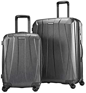 Samsonite Bantam XLT 2-piece Travel Suitcase Luggage Hardcase Spinner Set Grey