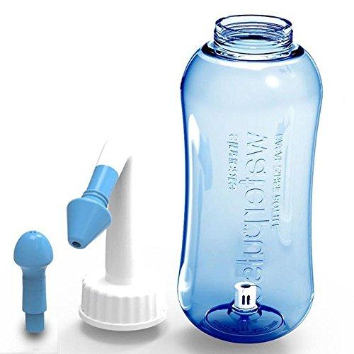 Gesund Nasendusche für Schnupfen Allergie/Sinusitis/Trockener Nase/bei Schnupfen Nasenspülung,Nasenreinigung, Nase Spülen für Kindern und Erwachsenen