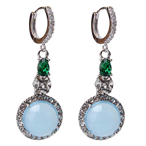 WEIHEEE Künstliche Jade Chalcedon Ohrringe Handgemachtes Einzigartiges Design Ohrring Geschenk für Weihnachten Valentinstag