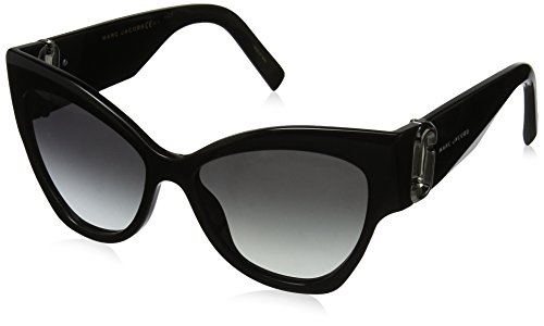 Marc Jacobs MARC 109/S 9O 807 54 gafas de sol, Negro (Black/Dark Grey Sf), Mujer