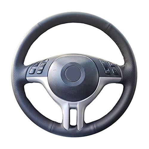 JNXZHQC Funda de Volante de Cuero Cosida a Mano.para BMW E39 E46 325i E53 X5 X3