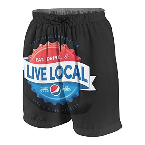 FDGJNB Pantalones cortos de natación para hombre, de secado rápido, ligeros, con cordón y forro de malla, para el hogar, pantalones de surf