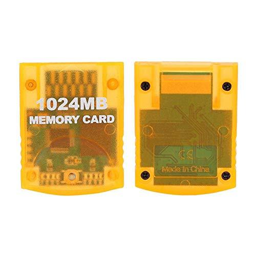 Interruptor de protección incorporado ABS, tarjeta de memoria de alta velocidad de gran capacidad de 1024 MB, tarjeta de memoria, para consola de juegos WII Gamecube