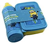 My Party Suppliers Minion Tiffin Box and Water Bottle Set for Kids Designer