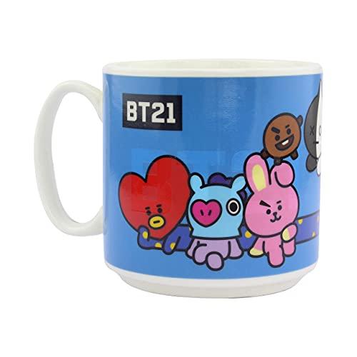 Paladone 5055964736484 BT21-Taza de café y té Calor, diseño Cambia Cuando se calienta, Regalo para Todas Las Edades, cerámica