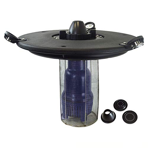 """HALF OFF PONDS Aqua Marine Floating Fountain with 27"""" Float, (3) Spray Pattern Nozzles, 1/2 HP Pump with 100' Cord and (3) 3-Watt White Light Kit - AQF150003X3W-100"""