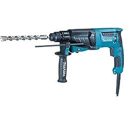 Makita HR2630 230V SDS Plus 26mm Rotary Hammer, 800 W, 240 V, Blue, Silver
