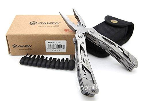 Multi Tool Ganzo G202B/G202 - Alicates militares para acampar con kits de herramientas de pesca (G202)