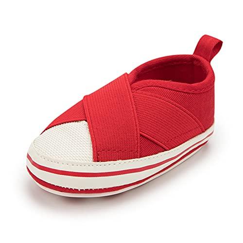 GUOQUN-SHOP Plataforma Unisex bebé Bebé niña Zapatos de Lona Infantil recién Nacido Casual de Goma Suela de Gancho Bucle Primero Caminatas para niños pequeños Zapatos de Cuna