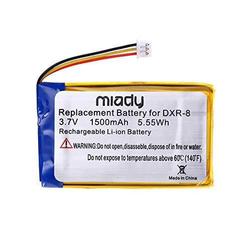 MIADY 3.7V 1500mAh Replacement Battery for Infant Optics DXR-8 Video Baby Monitors (1 Pack)