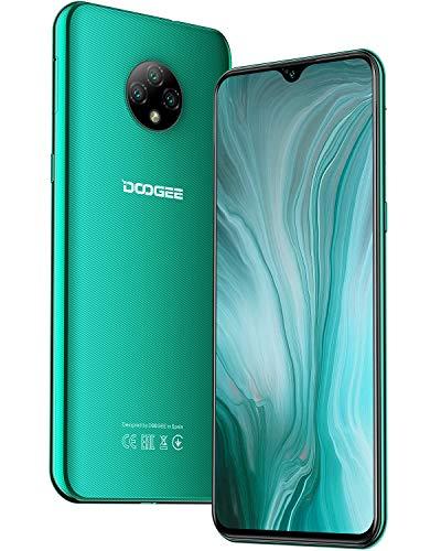 Moviles Libres, DOOGEE X95 Smartphone Libre 2020, 6.52 Pulgadas 19.5:9 HD+ Pantalla 4G Telefonos, 4350mAh, 13MP+2MP+2MP+5MP, Android 10.0 Smartphone, 16GB ROM,128GB SD, Dual SIM Face ID, Verde
