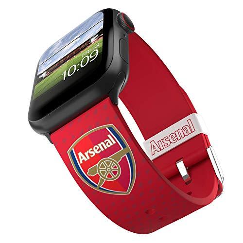 Arsenal Football Club – Arsenal Logo Smartwatch Band – Offiziell lizenziert, kompatibel mit Apple Watch (nicht im Lieferumfang enthalten) – passend für 38 mm, 40 mm, 42 mm und 44 mm