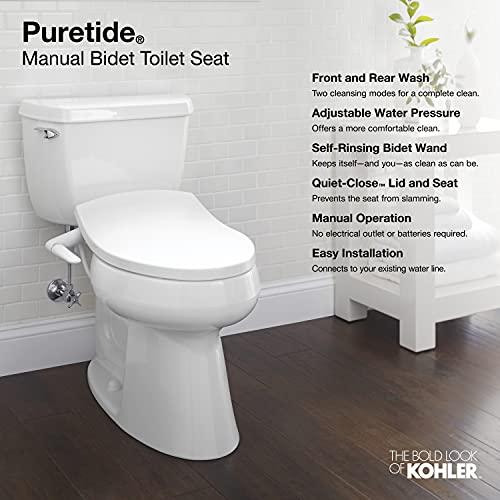 Kohler K-5724-0 Puretide Elongated Manual Bidet...
