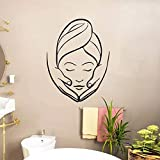 wZUN SPA salón de Belleza calcomanía Etiqueta de la Pared diseño Vinilo Chica Simple decoración Impermeable patrón Abstracto 68X90cm