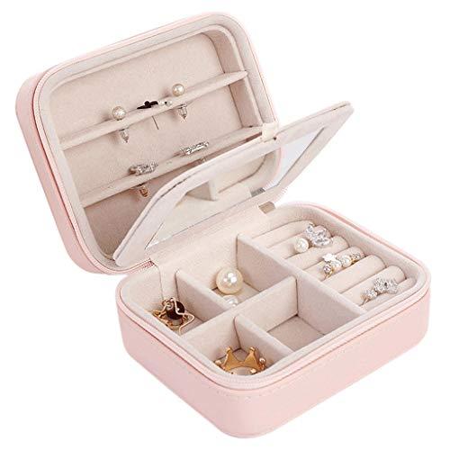 sararui Joyero Mini Caja de Almacenamiento portátil Pulsera Anillo Collar Pendientes Caja de joyería Fundamentos de Viaje Organizador Pendientes
