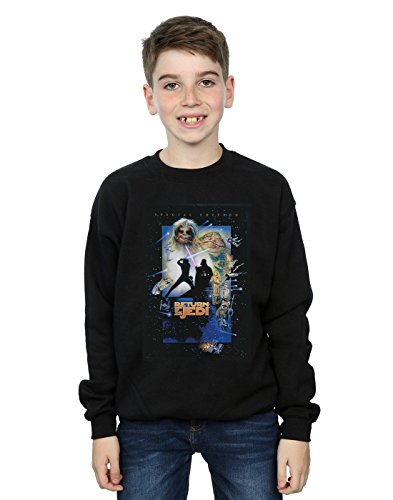 Star Wars Niños Episode Vi Movie Poster Camisa De Entrenamiento Negro 5-6 Years