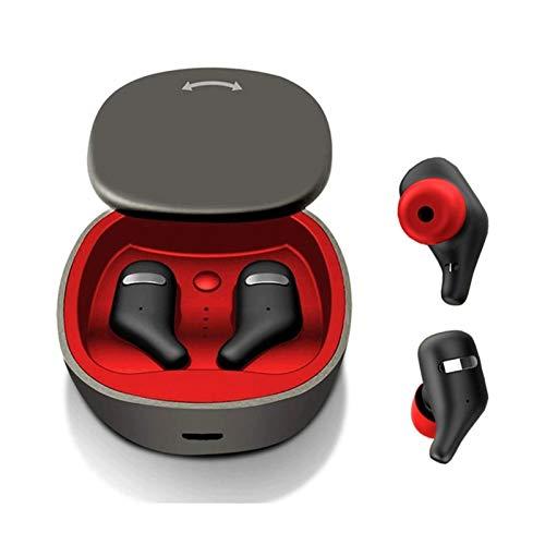 QCHEA Bluetooth 5.0 Auriculares TWS Auriculares inalámbricos Mini Auriculares estéreo 3D HiFi Sound Sport IPX5 HD Mic Manos Libres for Todos los teléfonos (Color : Black)