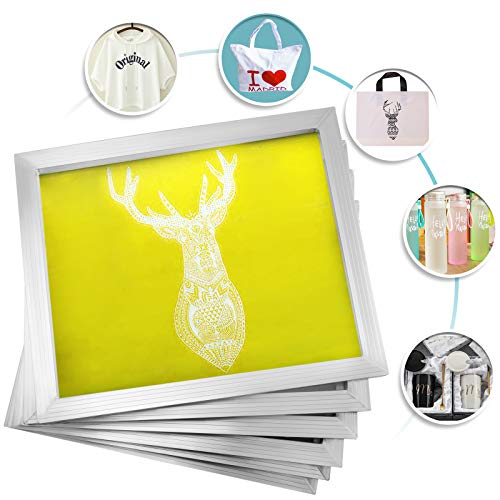 Techlifer 12 Pcs Siebdruckrahmen Aluminium 50x60cm Silk Screen Frame 230 Mesh Siebdruck Rahmen Siebdruck Bildschirme