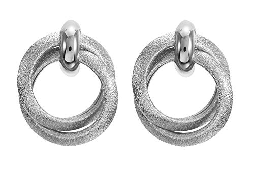 Twisted Door Knockers Clip On Earrings for Women in Gold, Rose Gold, Silver