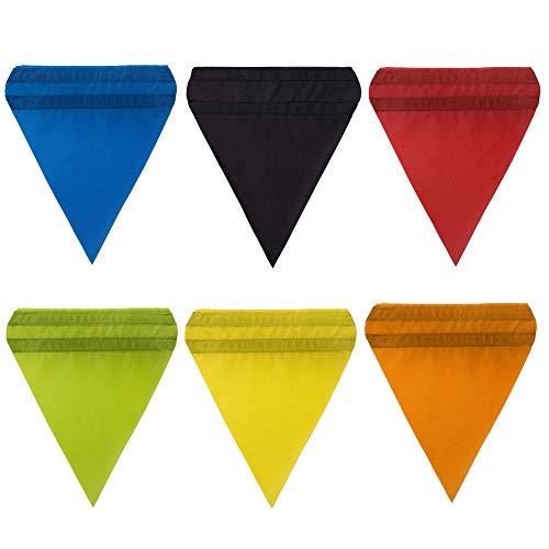 SPRINGOS Banderines de velcro para columpio infantil, 6 unidades, 26 x 23 cm, diseño de triángulos, multicolor