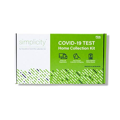 Simplicity COVID-19 PCR Home Testing Kit - No Prescription Required, FDA Authorized, Pre-Paid Return Shipping for Quick COVID Test Results (Single)