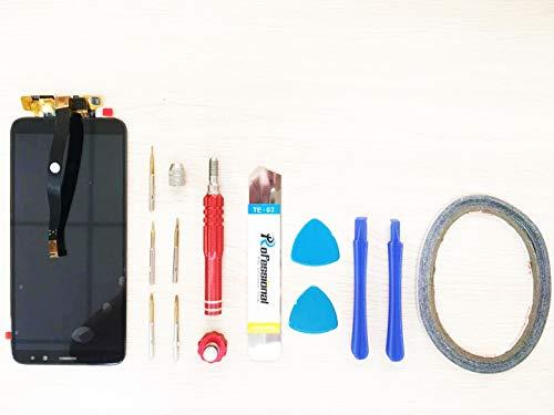 Ersatz LCD Display für Motorola Moto G7 Play Display Reparatur + Werkzeuge & doppelseitigen Kleber (Schwarz)